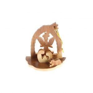 Olive Wood Christmas Decorations Nativity – Angel