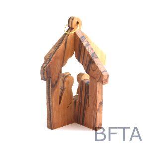 Olive Wood 3D Nativity Ornament
