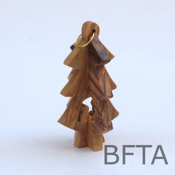 Olive Wood 3D Christmas Tree