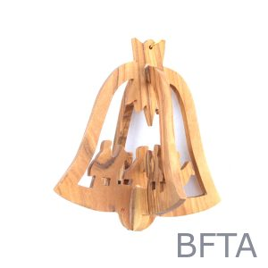 Olive Wood 3D Ornament Bell
