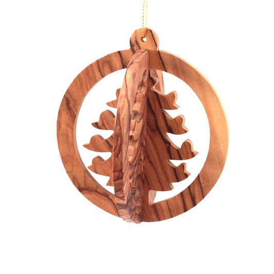 Olive Wood 3 D Christmas Tree