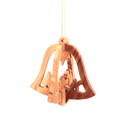 Olive Wood 3 D Bell – 3 Kings
