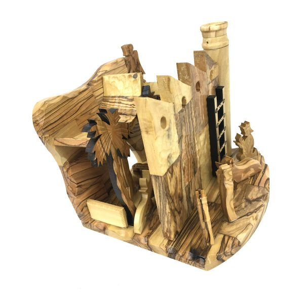 Olive Wood 'The Wall' Nativity