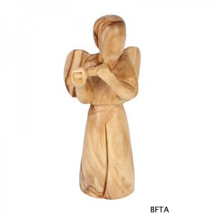 Olive Wood Angel Playing flute