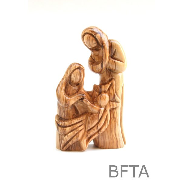 Olive Wood Holy Family with Jesus in a Star