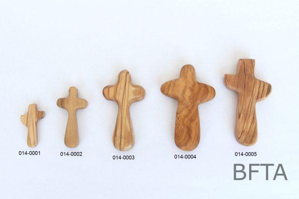 Olive Wood Holding Cross- Extra Large