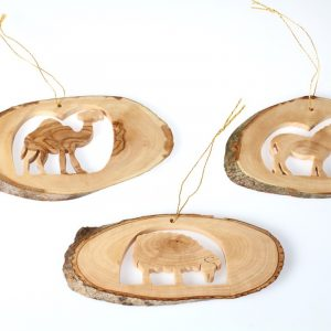 Olive Wood Set of Natural Hangers