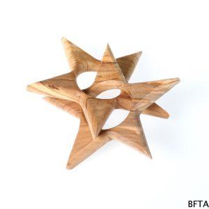 Olive Wood Twin Star