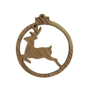 Olive Wood Ornament – Jumping Deer