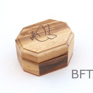 Olive Wood Eight Angles Box with Peace Dove on Top