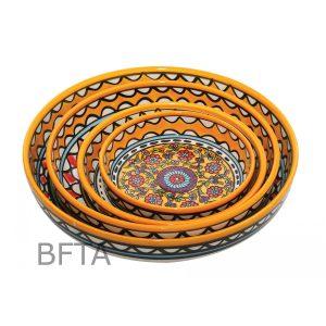 Hand Made Ceramics - Shallow Bowls - Yellow