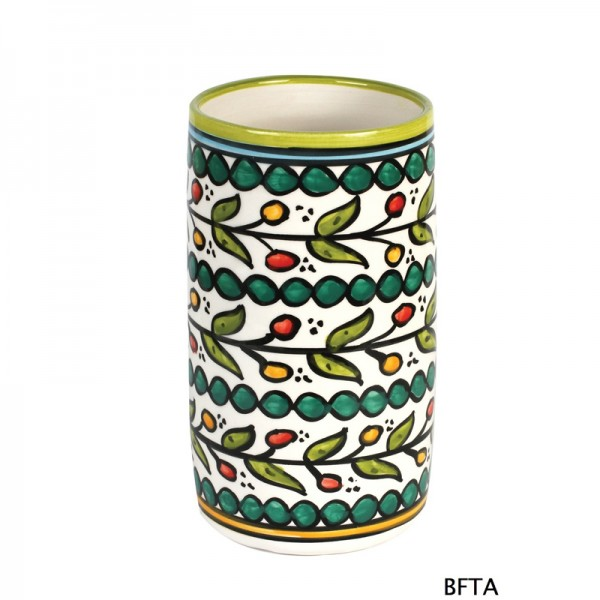 Hand Made Ceramics – Green Wine Bottle Holder