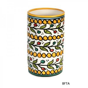 Hand Made Ceramics – Yellow Wine Bottle Holder