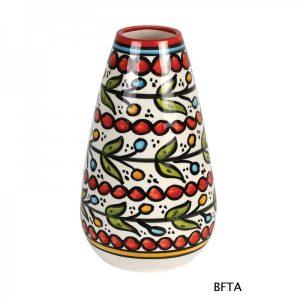 Hand Made Ceramics – Red Flower Vase 2