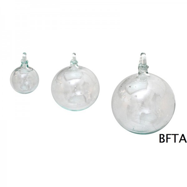 Hand Made Blown Glass – Hanging Ball Baubles CLEAR Small