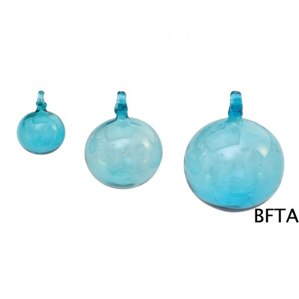 Hand Made Blown Glass – Hanging Ball Baubles SKY BLUE Small