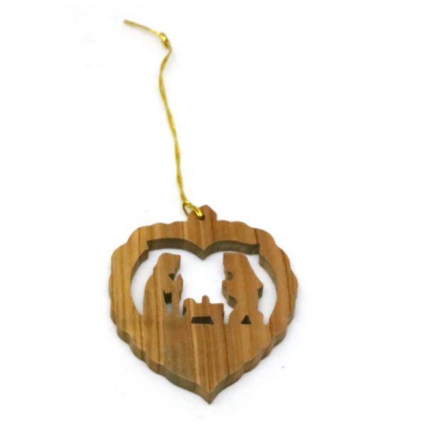 Olive Wood Ornament – Holy Family