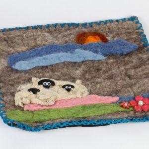 Hand Made Felt Wool Pillow