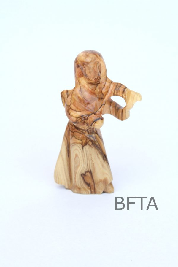Olive Wood Angel playing the Violin