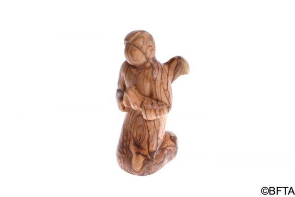 Olive Wood Kneeling Praying Angel – Large