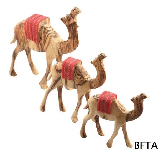 Olive Wood Standing Camel