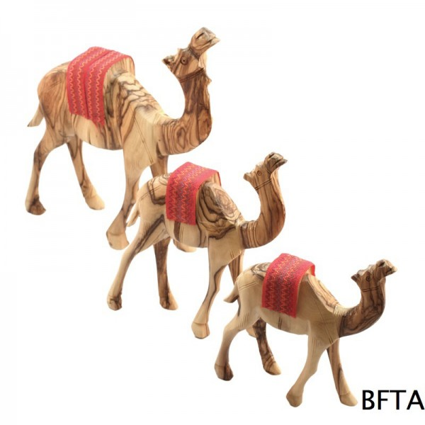 Olive Wood Standing Camel – Small