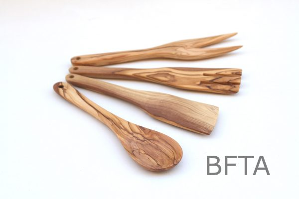 Olive Wood Serving Set – Set of 4