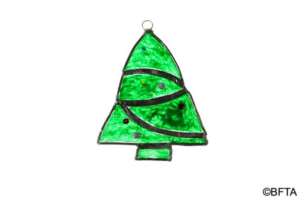 Recycled Glass Christmas Tree Small