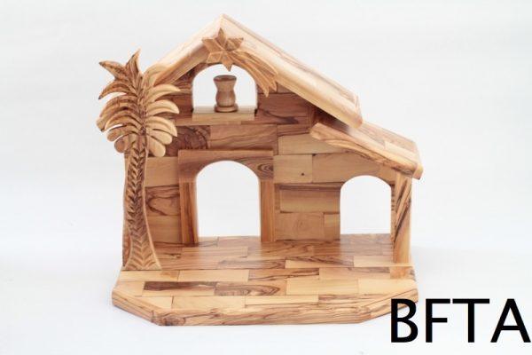 Olive Wood Cottage Medium Nativity