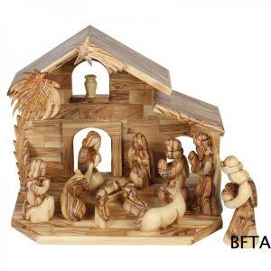 Olive Wood Very Large Cottage Nativity