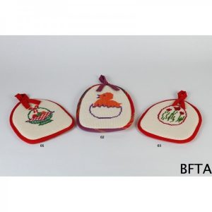 Embroidered Oven heat Holder Flowers