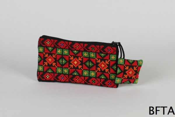 Small Embroidered Purse with Square
