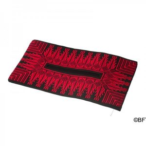 Embroidered napkin holder – Red