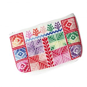 Embroidered Make Up Bag – Off white