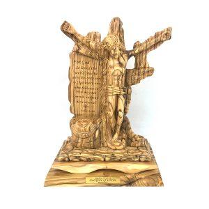Olive Wood Jesus on cross Master Large Figure