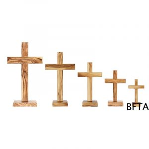 Olive Wood Plain Cross '5cm Base' – Medium