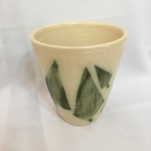 Hand Painted Ceramics Cup – Green