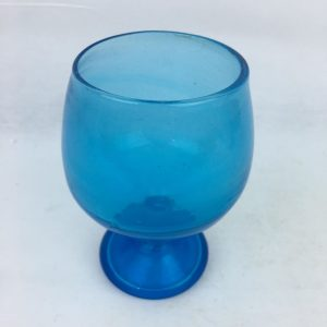Blown Glass – Wine Glass – Dark Blue Medium