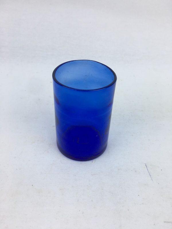 Blown Glass – Shot Cup – Dark Blue