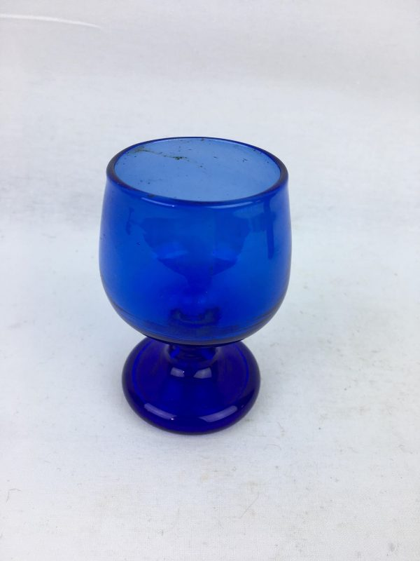 Blown Glass – Wine Glass – Dark Blue Small