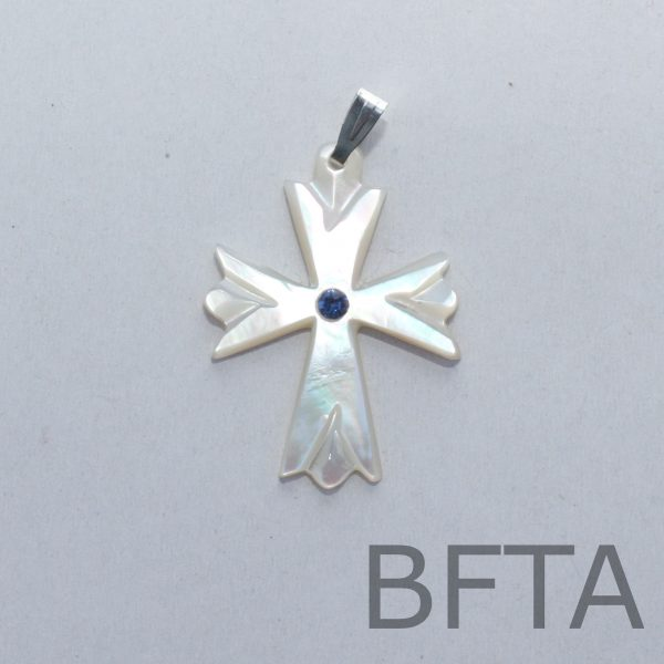 Mother of Pearl Cross Pendant – small