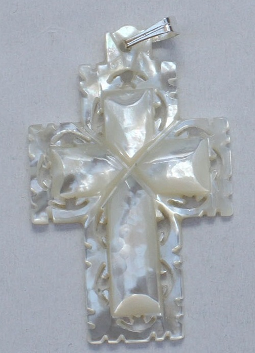 Mother of Pearl Carved cross – small