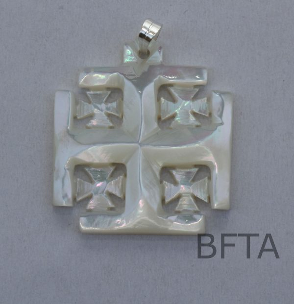 Mother of Pearl Jerusalem Cross