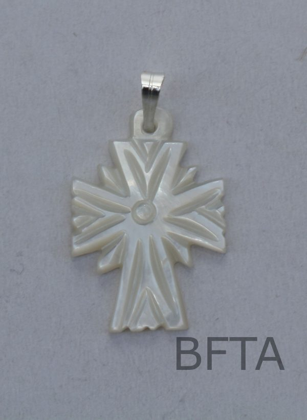 Mother of Pearl Carved cross small