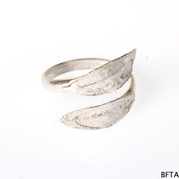 Silver Two leafs Ring