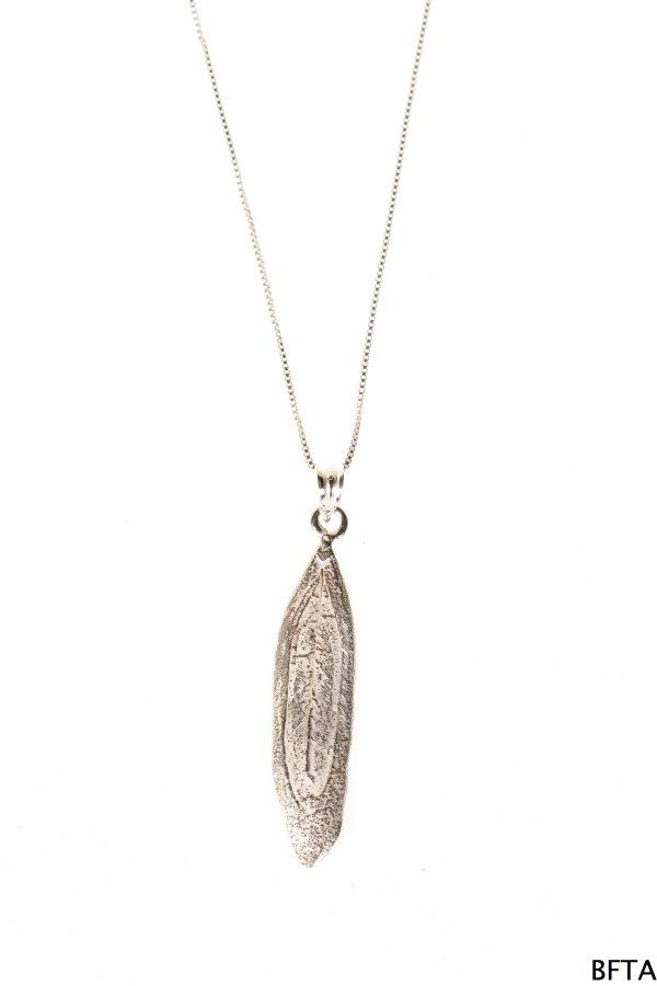 Silver One Leaf – Silver chain