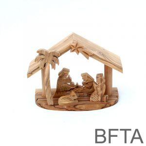Olive Wood Beams Nativity