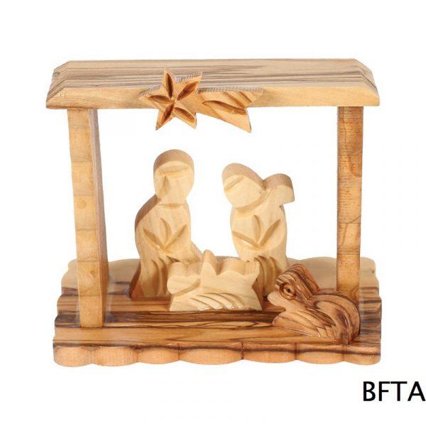Olive Wood Square Nativity