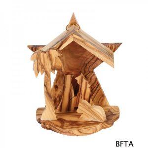 Olive Wood Small Star Nativity