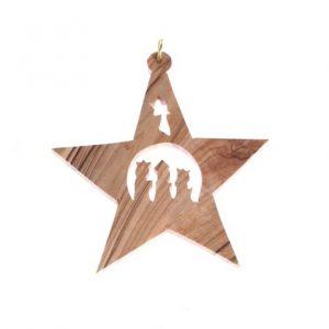 Olive Wood Star – 3 Kings